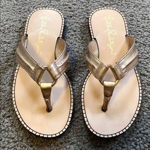 Lilly Pulitzer -Gold Metallic Sandals - Mini Mckim